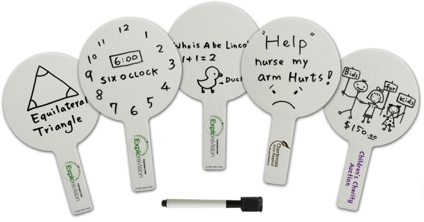 Dry Erase Educational Paddle