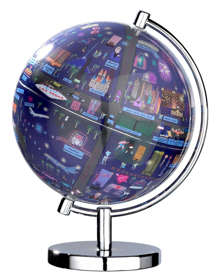 Las Vegas Illuminated Light Up Globe